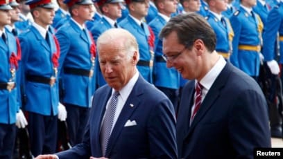Biden encourages Vucic to recognize Kosovo